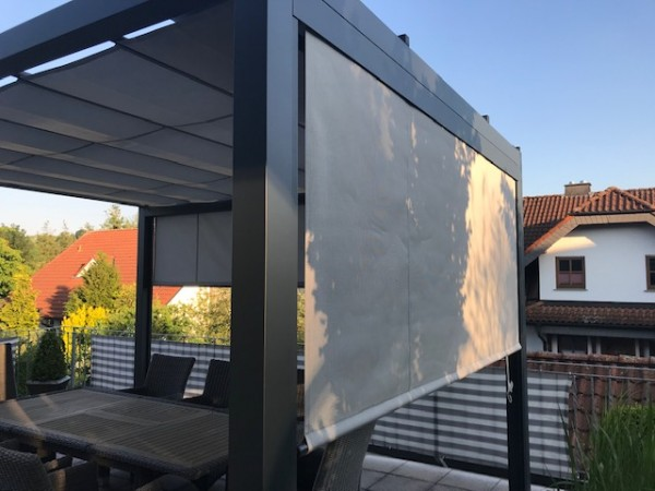 Sonnenpavillon Markisen made in Germany 5x5 m