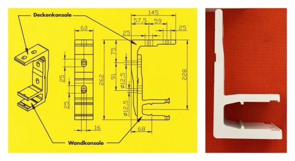 Konsole für Wandmontage Halbkassettenmarkise Wandkonsole weiss