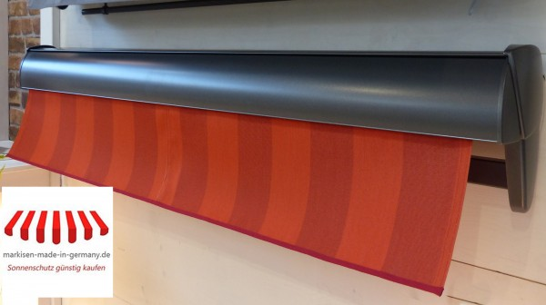 Halbkassettenmarkise 4 x 3 m Hülsenmarkise Breite 400 cm x 300 cm