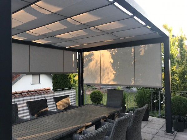Sonnenpavillon made in Germany Pergolamarkise