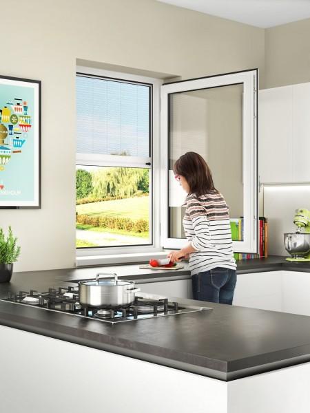 Insektenschutzgitter nach Mass für Fenster 150-160 cm Breite Fliegengitter